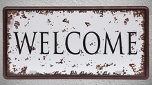 1 pc Welcome home store house shop Tin Plates Signs Brussel wall man cave Decoration Metal Art Vintage Poster 1 pc tires shop premium car mechanic shop store garage usa tin plates signs wall man cave decoration metal art vintage poster