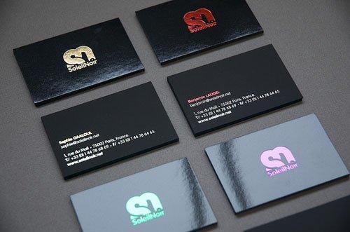 Black Glossy Business Cards Promotion-Shop for Promotional Black ...