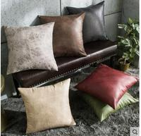 Pu imitation leather cushion cover Leather sofa hug pillowcase Nordic style pillowcase