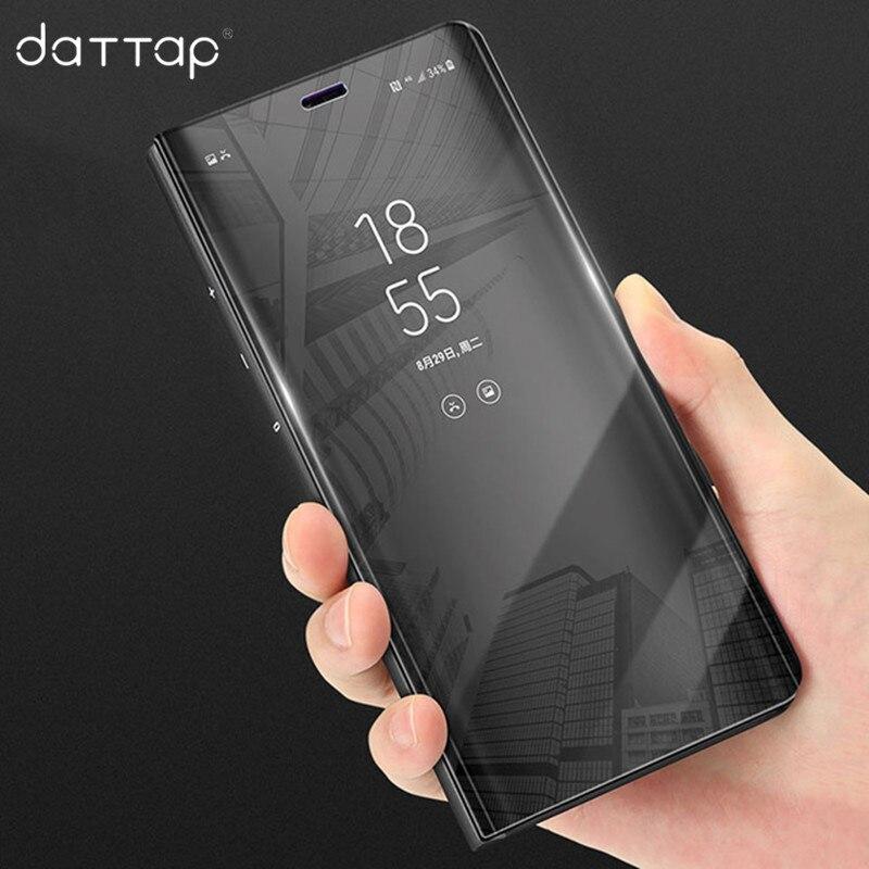 Luxury Mirror Flip Case For Xiaomi Redmi Note 5A Case Leather Clear Smart View Phone Case For Xiaomi Redmi Note 5A Prime Cover