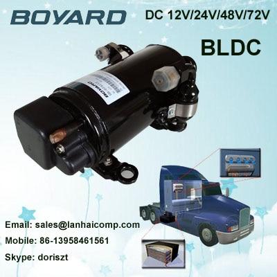 Zhejiang boyard R134A  24V 12v dc air conditioner compressor KFB135Z24 for truck sleeper air conditioner boyard 12v compressor r134a for portable 12v air conditioner unit