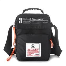 Сумка через плечо унисекс, Повседневная нейлоновая сумка-тоут через плечо с ручками, в стиле милитари