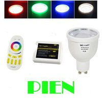 4W GU10 LED Spotlight 2 4G RGBW Warm Cold White WIFI Dimmable LED Bulb WIFI Controller