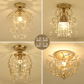 modern Crystal LED Pendant light corridor lighting aisle pen combination village restaurant hanging lamp