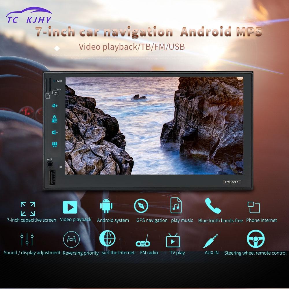 2 Din Автомагнитолы gps 7 дюймов Android плеер для Ford Focus 2 для Corolla 2000 навигация Центральный Мультимедиа WI FI заднего вида Камера