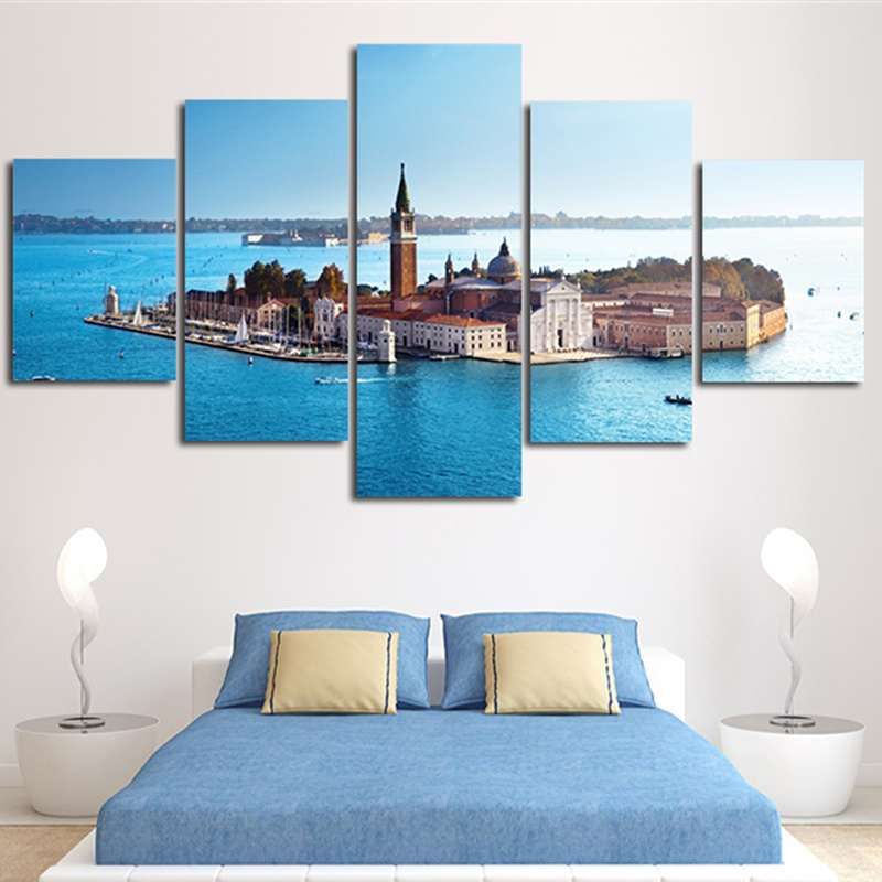 2017 Wall Painting Home Decor Abstract Landscape Island Around By Ocean  Canvas Art Picture Unframed(