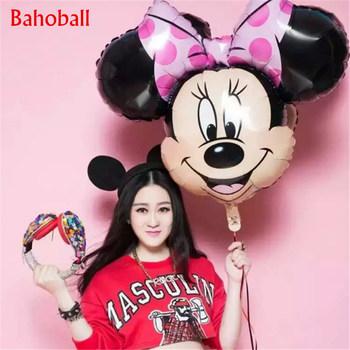 1 sztuk z okazji urodzin Mickey Mouse folia balony z helem dekoracja urodzinowa dzieci Mickey Minnie impreza jednorożec balony dekoracyjne tanie i dobre opinie 1 pc Birthday party Graduation CHRISTMAS Ślub i Zaręczyny Dzień dziecka Party ballons Mickey Mouse Ucha Cartoon Amnimal