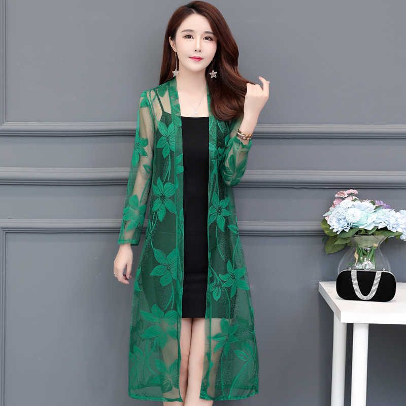 132494c9f4e0b Summer Lace Cardigan Women Shawl Hollow Out Sun Protection Clothing Plus  size Vintage Thin Ladies Jacket