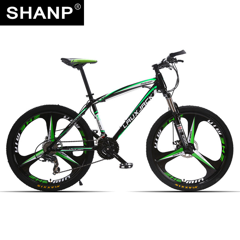 LAUXJACK Mountain Bike Steel Frame 24 Speed Shimano 26 Magnesium Alloy Wheel lauxjack mountain fat bike steel frame