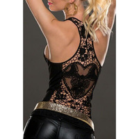 Summer Womens Tank Tops T Shirt Sexy Lace Vest Top Crochet Back Hollow Out Vest Camisole