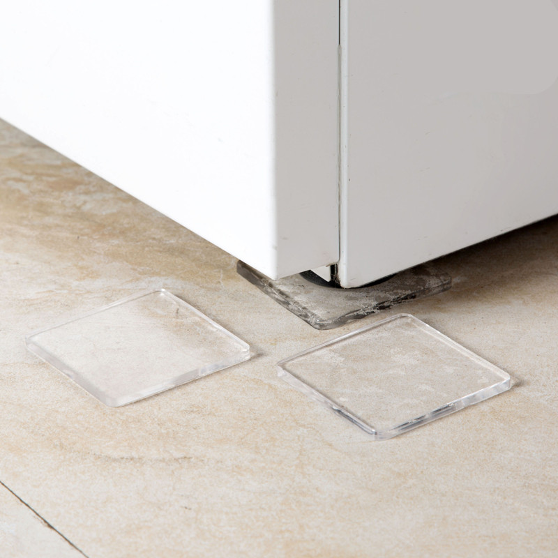 Pu Plastic Washing Machine Shock Non-slip Mats Anti-vibration Noise Home Chair Desk Desk Feet Protection Pads 4pcs Furniture