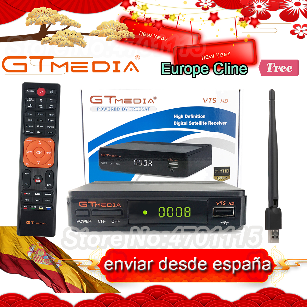 1 Year Europe Clines Server GTMedia V7S HD Digital Satellite Receiver DVB S2 V7S HD Full