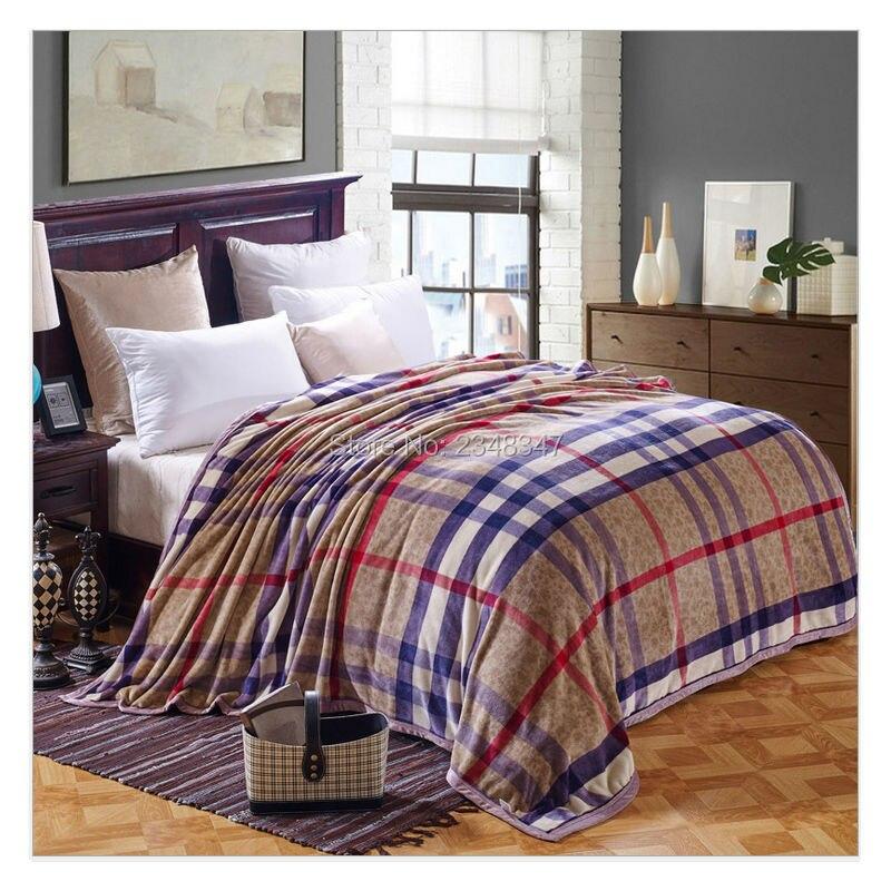 quality classic warm plush soft faux mink flannel fleece blanket throws sheet twinfull