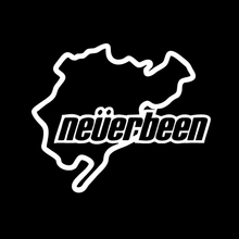 Funny NEVERBEEN nurburgring car stickers Reflective decal JDM Dubber drift Car Truck Window Bumper(China)