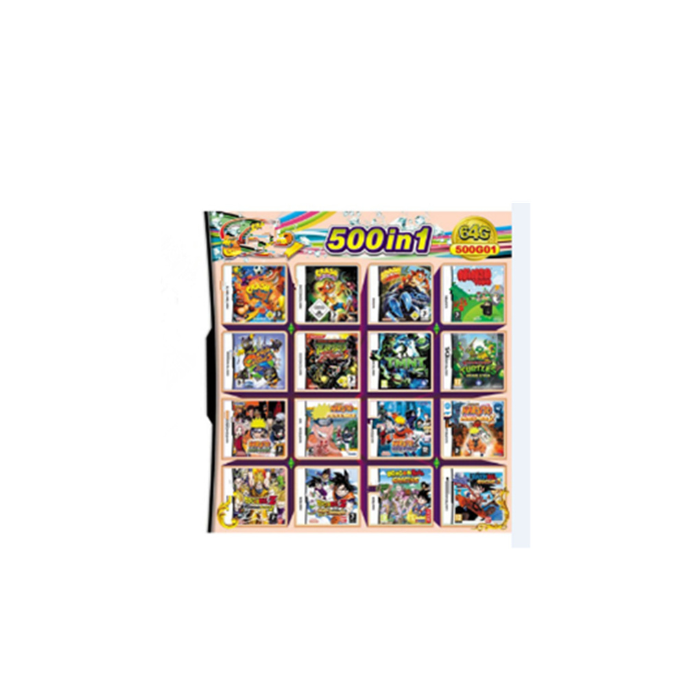 Free Shipping Newest 520 IN 1 500 IN 1 482 IN 1 208 IN 1 Games Cartridge Cards For D-S Video Game