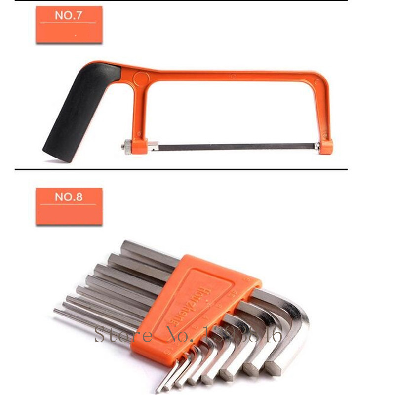 49vnt. Elektrodrilių buitinių įrankių rinkinys Remonto - Įrankių komplektai - Nuotrauka 6