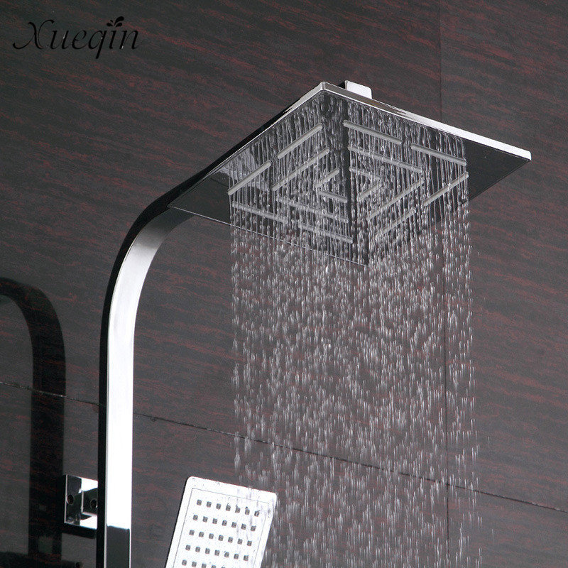 Mrosaa 8 Inch Shower Head Holes Water Out Stainless Steel Chrome Finish Square Rainfall Rain Showerhead Ceiling Mounted Sprayer