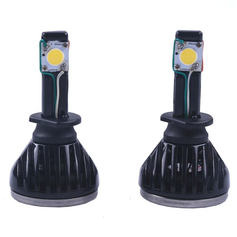 ФОТО 2pcs/lot Led Car Auto Headlight H1 All In One White Bulb for Automotives Headlight Fog lamp DRL with Fan 2200LM