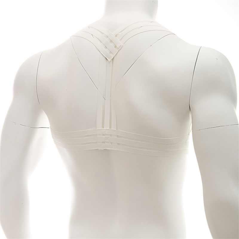 Arnes Hombre Mens kölelik demeti omuz vücut göğüs sapanlar Lingerie kas erkekler Hollow Out elastik demeti yular boyun askıları