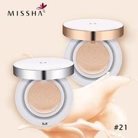 2 Pcs MISSHA Magic Cushion Moisture (#21) Whitening air cushion BB cream Foundation Makeup Sunscreen Korea cosmetic