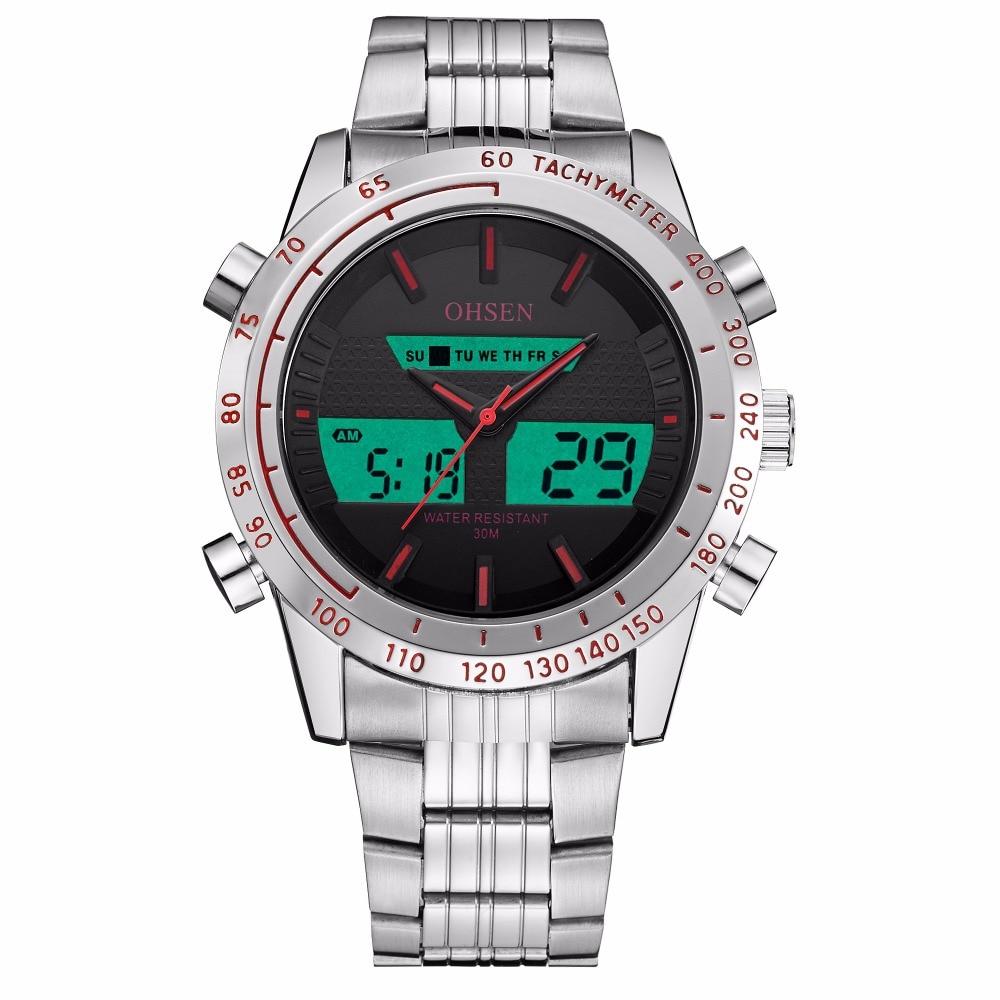 Top Sale Mode OHSEN Merk Sport Digitale Quartz Horloge Militaire Dual - Herenhorloges - Foto 2