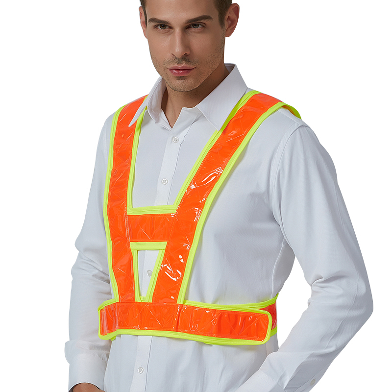 Reflective Vest Outdoor Work Safety Clothes Men Women Adjustable waist Protective Vest For Road Traffic Running Cycling Sport
