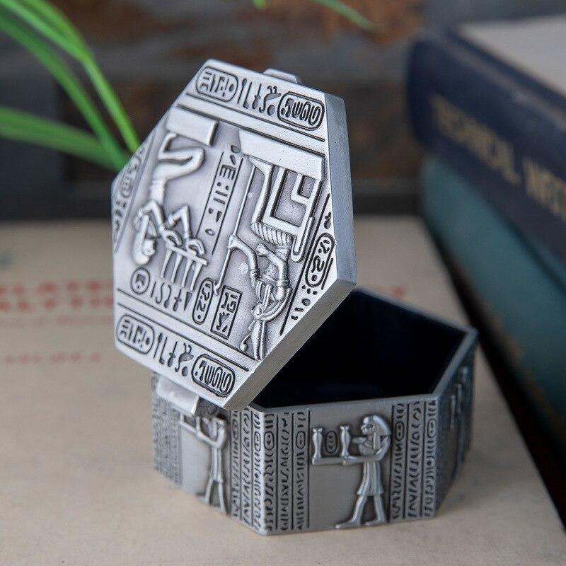 Organizer Ring-Storage-Box Jewelry-Box Creative Trumpet Egyptian-Style Zinc-Alloy Retro