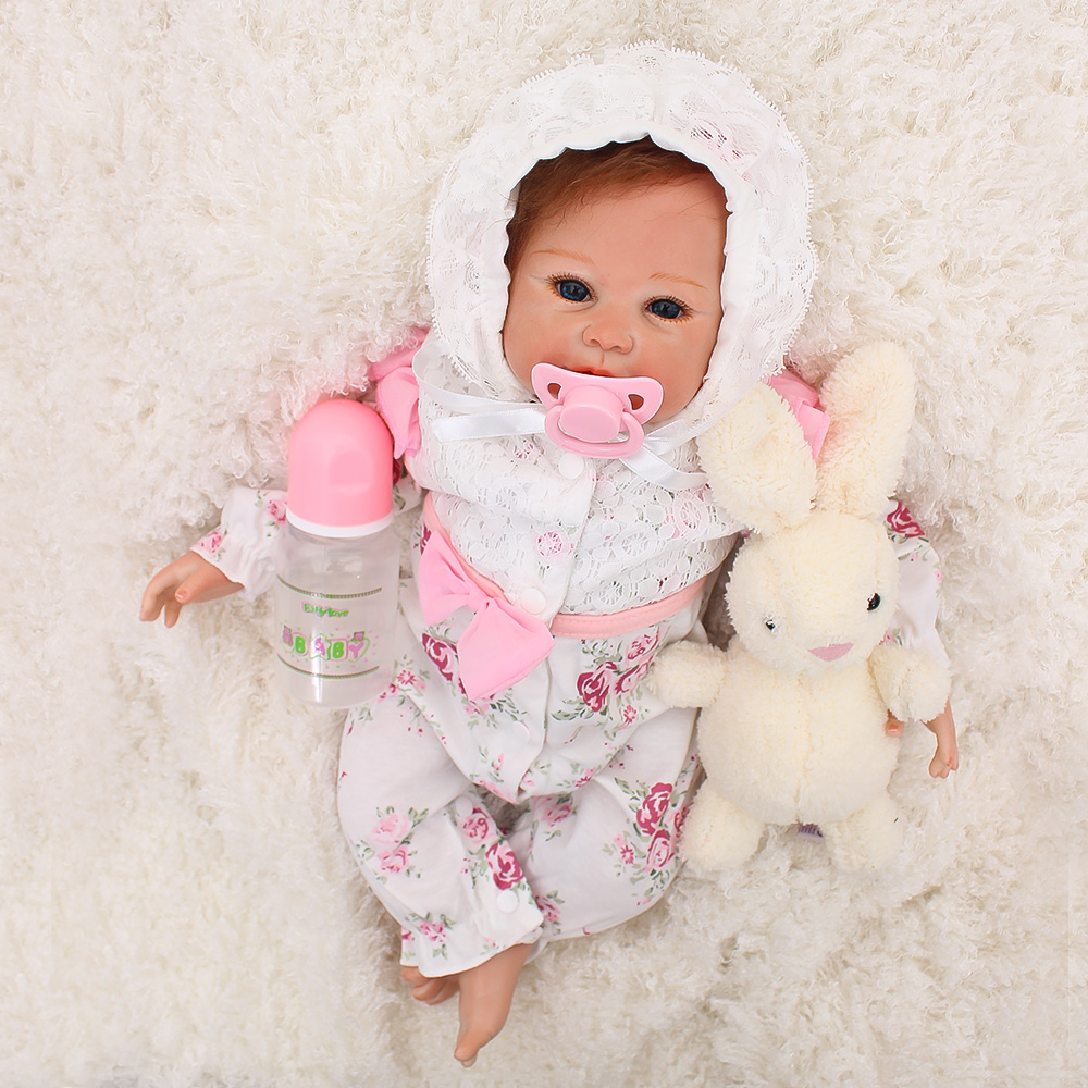 Juguetes Bebes reborn silicone baby doll 20 48cm fashion soft reborn dolls toys for children gift real cute girl boneca reborn Juguetes Bebes reborn silicone baby doll 20 48cm fashion soft reborn dolls toys for children gift real cute girl boneca reborn