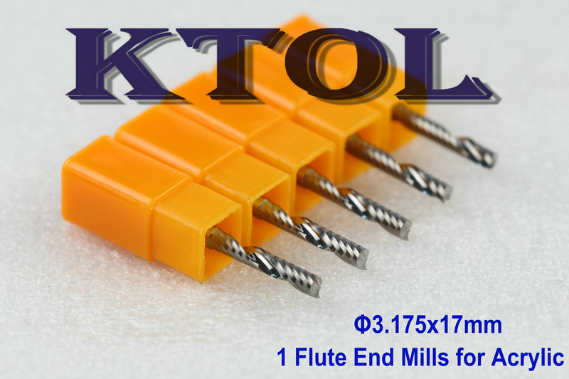 3.175*17mm Imported Tools Single Flute Solid Carbide Endmill Set,Sharp Acrylic Milling Cutting Tool CNC Wood Cutter Router Bits - KTOL TOOLS TECHNOLOGY store