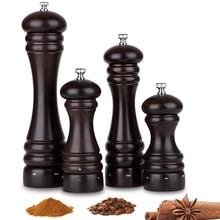 مطحنة ملح وفلفل Mokithand من خشب الزان مع مطحنة من الفولاذ الكربوني آمنة للطعام 5 6 8 10 مطحنة ملح يدوية