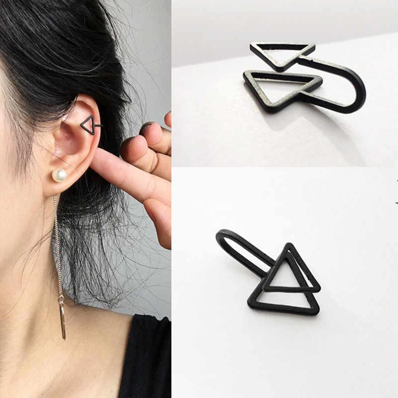 1 PC punk triangle U-shaped ear clip Earless earrings Men's and women's singles. Wholesale to earrings