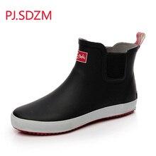 PJ SDZM New Fashion Men s Short Design Rain Boots Low Water Shoes Slip resistant Rainboots
