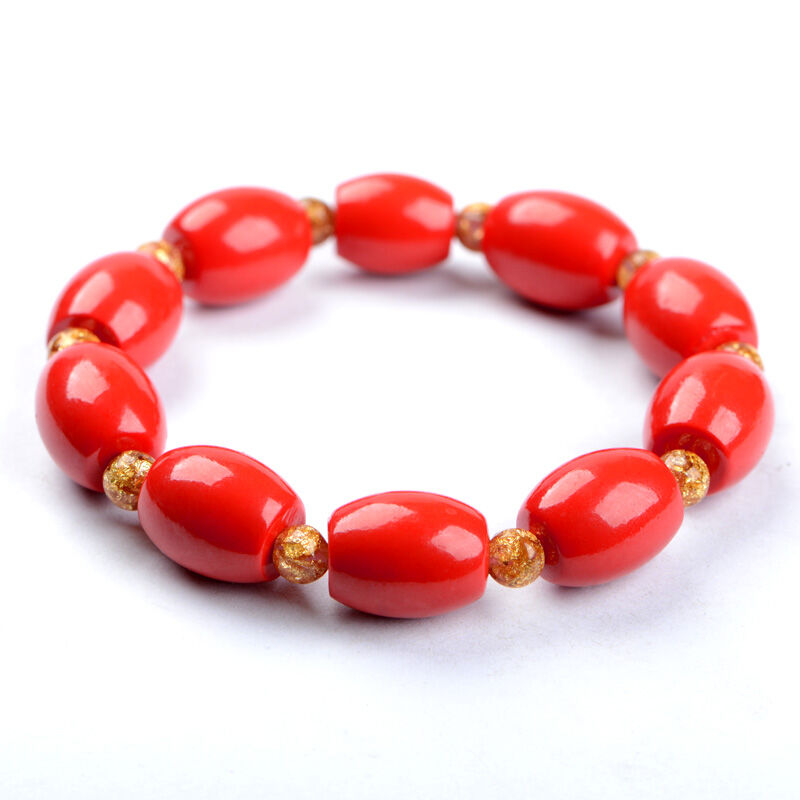 KYSZDL Hot Sell Natural red cinnabar bracelet men and Women lucky beads jewelry wholesale