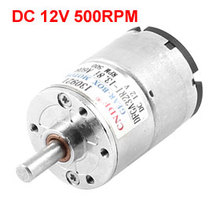 UXCELL(R) High Quality 1pcs DC 500RPM 12V 6mm Shaft Magnetic Electric Gear Box Motor Replacement