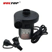 Voltop 12 فولت سيارة مضخة نفخ مضخة الهواء الكهربائية نافخة الهواء السرير قارب لايف بوي برميل التخييم ولاعة السجائر التوصيل ضاغط