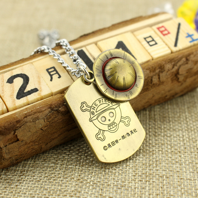 One Piece Necklace Soldier Luffy Dog Tag Necklace