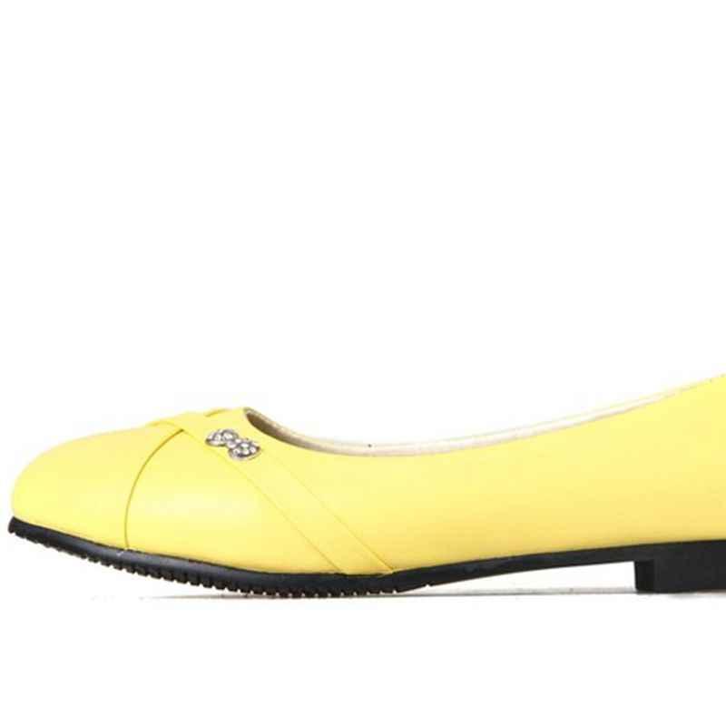 Oxford Schoenen Voor Vrouwen Grote Maat 34-47 Damesmode Schoenen vrouw Flats Lente Vrouwelijke Ballet Metalen Ronde Neus Solid Casual 062