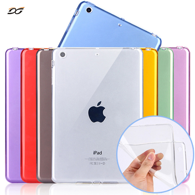 For iPad mini Silicone Case Soft TPU Back Case Bottom Case Cover For 7.9inch Apple ipad mini  1 2 3 4 Tablet Case For Mini ipad case for ipad air 2 pocaton for tablet apple ipad air 2 case slim crystal clear tpu silicone protective back cover soft shell