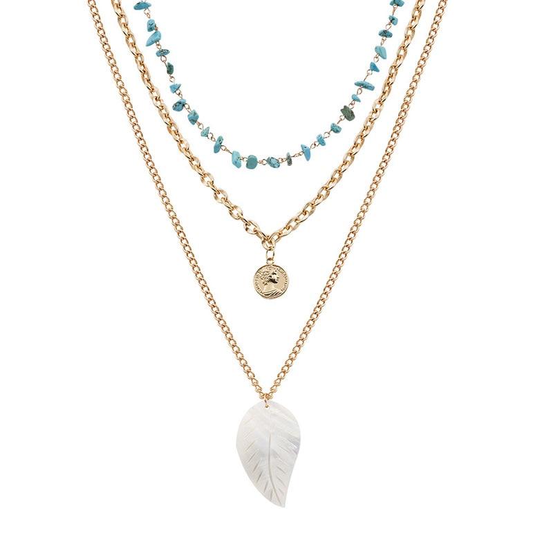 leaf blue bead 42.9g