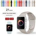38mm m/l tamanho cinta bandas de silicone faixa de relógio do esporte para apple watch