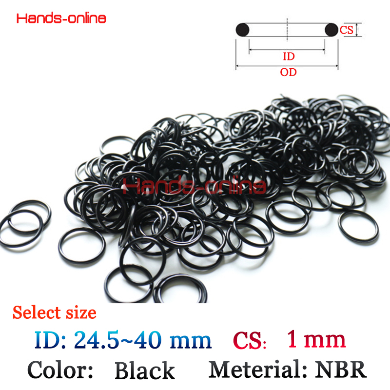 NBR ID 24.5 25 25.5 26 27 28 29 30 31 32 33 34 35 36 37 38 38.5 39 39.5 40mm x CS 1mm kit O-ring Rubber Washer oil Seals gaskets 10pcs lot 9x5x2 mm o rings rubber sealing o ring 9mm od x 2mm cs