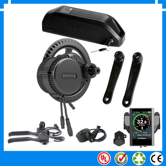 EU US RU pas de taxe nouveau 48 V 750 W Bafang BBS02B kit de moteur électrique à entraînement intermédiaire avec nouvelle batterie 48 V 16Ah Li-ion ebike + chargeur