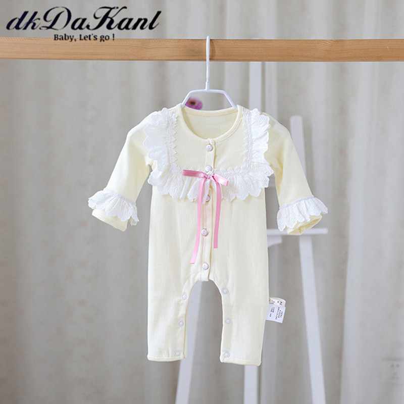 dkDaKanl Baby Girl Romper Newborn Clothing Spring Summer Autumn Unisex Boys RdkDaKanl Baby Girl Romper Newborn Clothing Spring Summer Autumn Unisex Boys R