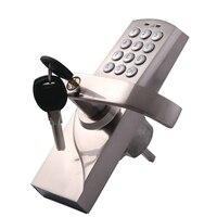 Цифровой клавиатуры блокировка дверей цинковый сплав электронных Пароль замок с резервный ключ цифровые кнопки Комбинации пароль Замки