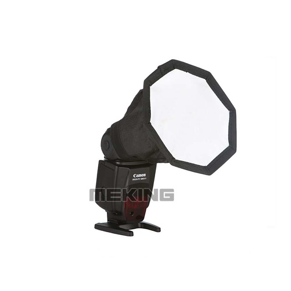 Meking 14cm 5 5in Softbox For SpeedLight Flash Speedlite octagon Soft box with Carrying Bag