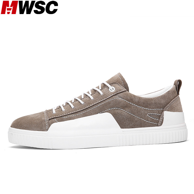MWSC Pig Suede Leather Male Casual Fashion Shoes Autumn Winter Warm Lace Up Leisure Mixed Colors Men Shoes 2017 new autumn winter british retro men shoes zipper leather breathable sneaker fashion boots men casual shoes handmade
