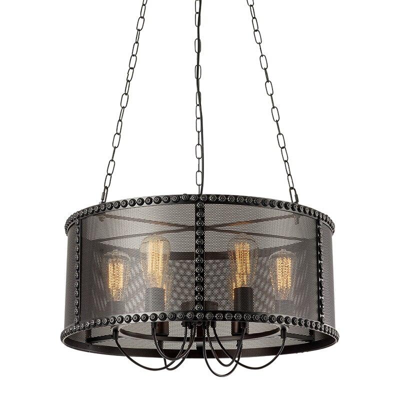 Schmiedeeisen eisen mesh käfige industrie retro nostalgie anhänger lampe E27 110 240V Kette Anhänger lichter für Parlor esszimmer - 3