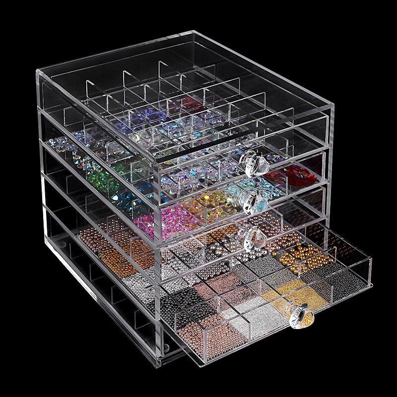 5 couches cosmétiques vernis à ongles Rack présentoir boîte en plastique acrylique Stand Case rouge à lèvres organisateur stockage Nail Art affichage 10