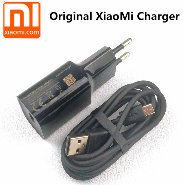 Original EU XIAOMI redmi 6a charger 5V/2a charge usb wall power adapter For redmi 5a 4a 6 4x 5 plus mi note 3 5 6 pro s2 &Cable