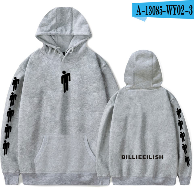Billie Eilish Printed hooded Boy Girl Fashion Sweatshirt Billie Eilish Harajuku Casual Long Sleeve Hoodies Kpop sweatshirts